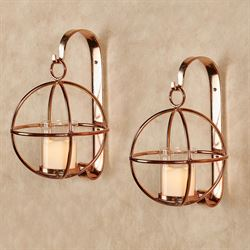 Bronx Wall Sconces Copper Pair