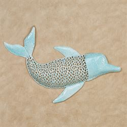 Dolphin Wall Art Aqua