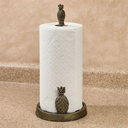 Pineapple Paper Towel Holder Gold/Black