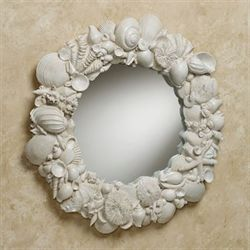 Seashell Melange Wall Mirror Weathered White