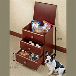 Pet Food Storage Unit Classic Cherry