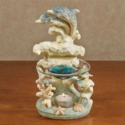 Dolphin Tealight Oil Burner Multi Pastel