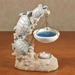 Sea Turtle Tealight Oil Burner Beige