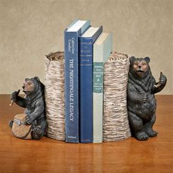 Mischievous Bears Bookend Pair Black Pair