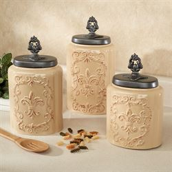 Fioritura Kitchen Canister Set Butter Set of Three