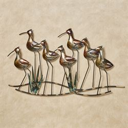 Sea Birds Wall Art Gold/Black