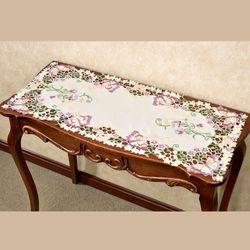 Brilliant Butterflies Table Runner Cream 16 x 36
