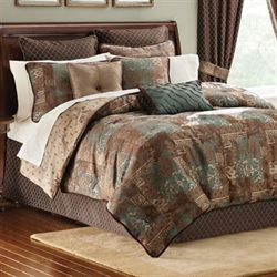 Trieste Comforter Set Chocolate