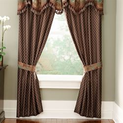 Trieste Tailored Curtain Pair Chocolate 82 x 84