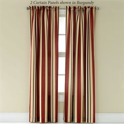 Mercury Stripe Tailored Curtain Panel