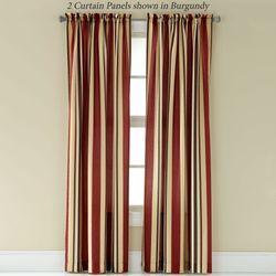 Mercury Stripe Tailored Curtain Panel