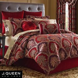 Sauvignon Comforter Set Red