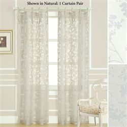 Rothbury Tie Top Curtain Pair 74 x 84