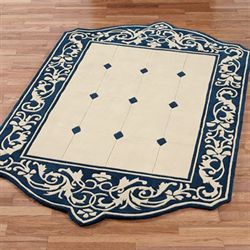 Laurent Rectangle Rug Navy Blue