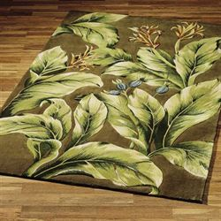 Tropical Paradise Area Rug Khaki
