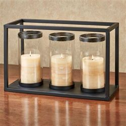 Troy Triple Candleholder Black