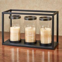 Troy Triple Candleholder Black