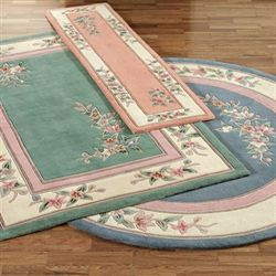 Elegant Corner Floral Rectangle Rug