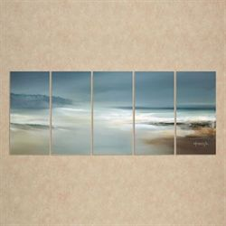 Calm Waters Cloudy Sky Wall Art Multi Warm Set of Five