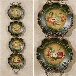 Abundant Fruit Decorative Plate Set  Set of Four