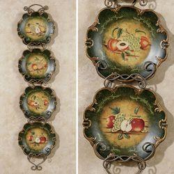 Abundant Fruit Decorative Plate Set  Set of Four