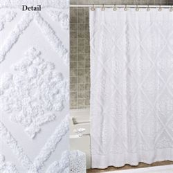 Belle Shower Curtain White 72 x 72