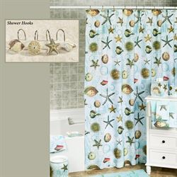 Atlantic Shower Curtain Aqua 70 x 72