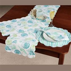 St Augustine Quilted Table Runner Multi Cool 14 x 51