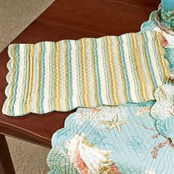Santa Catalina Quilted Rectangle Placemats Pale Blue Set of Four