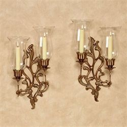 Concetta Double Wall Sconces Champagne Bronze Pair
