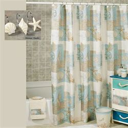 Coastal Moonlight Shower Curtain Cream 70 x 72
