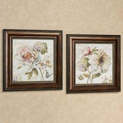 Marche de Fleurs Pictures Multi Pastel Set of Two