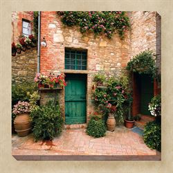 Toscano Courtyard Canvas Art Multi Bright
