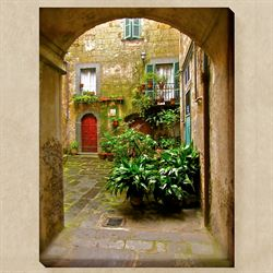 Italian Courtyard Canvas Art Multi Bright