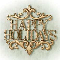 Happy Holidays Word Wall Art