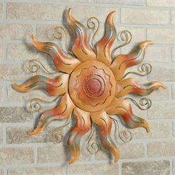 Fiesta Sun Metal Wall Art Multi Warm