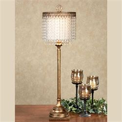 Persia Table Lamp Aged Gold Each with CFL Bulb