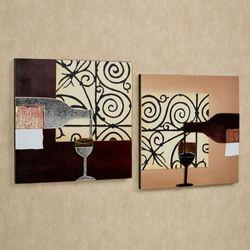 Vetro di Vino in Italia Wall Art Set Merlot