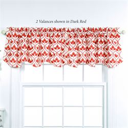 Mayfair Scalloped Valance 52 x 17
