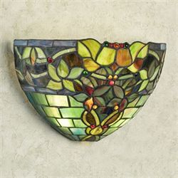 Gemma Stained Glass Wall Sconce Multi Jewel