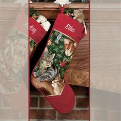 Furry Elves Needlepoint Stocking