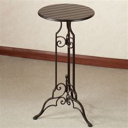 Lacole Pedestal Table Antique Bronze