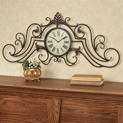 Treviso Wall Topper with Clock Bronze