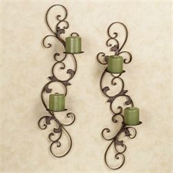Jennison Wall Sconce Set Taupe Set of Two