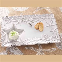 Starfish Snack and Dip Platter White
