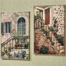 Tuscan Left Staircase Canvas Wall Art Multi Warm