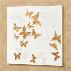 Butterfly Bliss Canvas Wall Art White