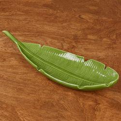 Palm Leaf Decorative Tray Green