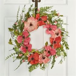 Poppy Floral Wreath Multi Warm