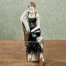 Exquisite Composure Lady Figurine Black